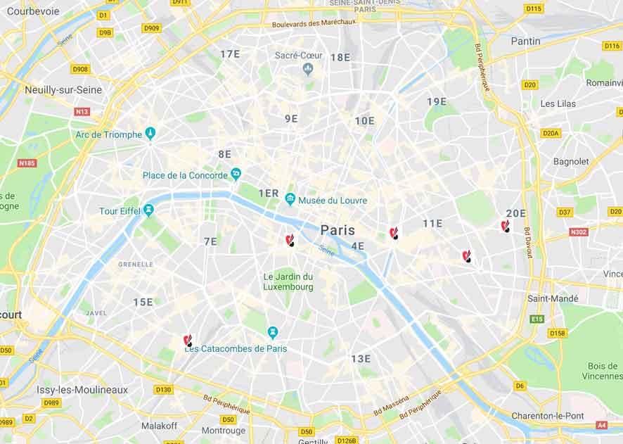 map localisation cours candela paris