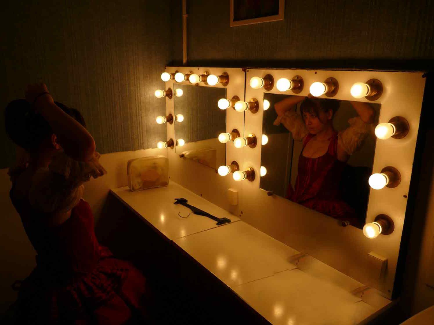 Miroir préparation vestiaire théâtre