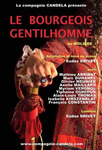 afiche pièce de théâtre le bourgeois gentilhomme