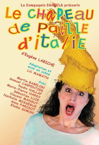 affiche pièce de théâtre le chapeau de paille d'Italie