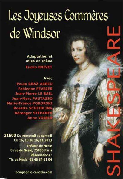 affiche pièce de théâtre les joyeuses commères de Windsor