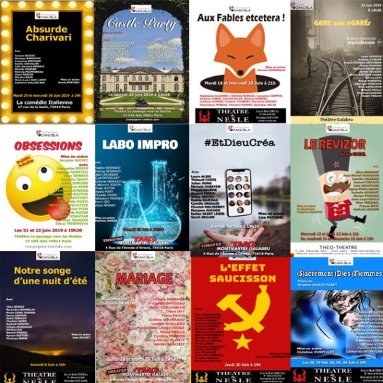 Spectacles cours de théâtre 2019